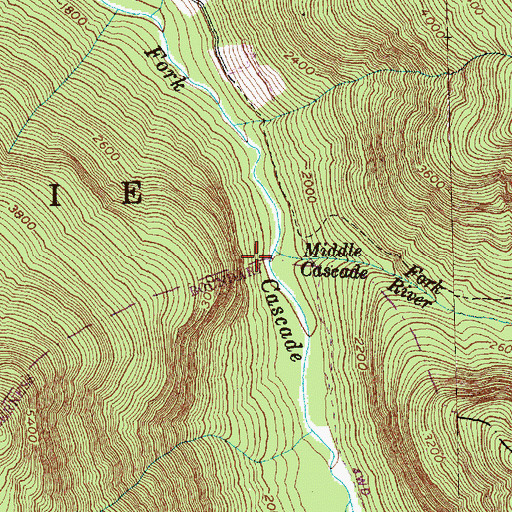 Topographic Map of Middle Fork Cascade River, WA