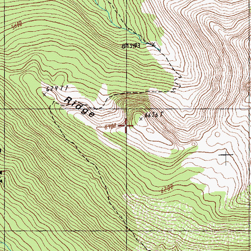 Topographic Map of Middle Ridge, WA