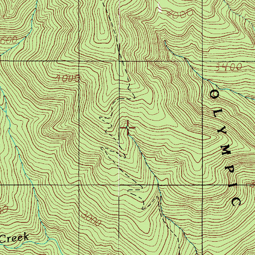 Topographic Map of Mineral Spring (historical), WA
