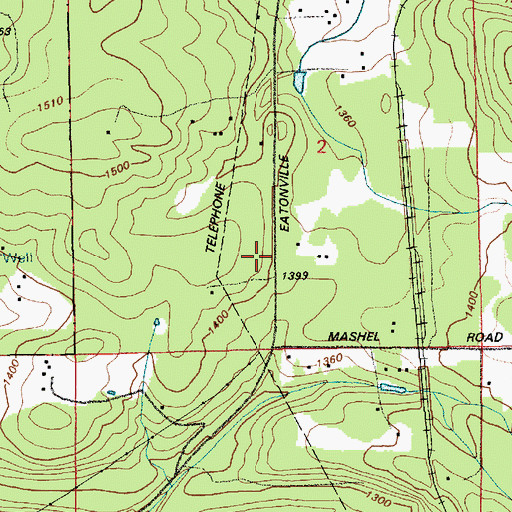 Topographic Map of New Reliance, WA