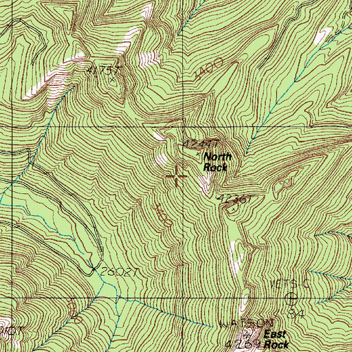 Topographic Map of North Rock, WA