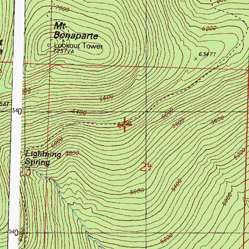 Topographic Map of South Side Trail, WA