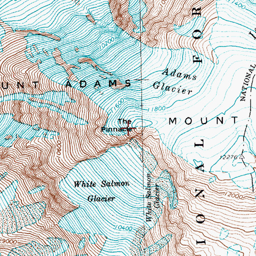 Topographic Map of The Pinnacle, WA