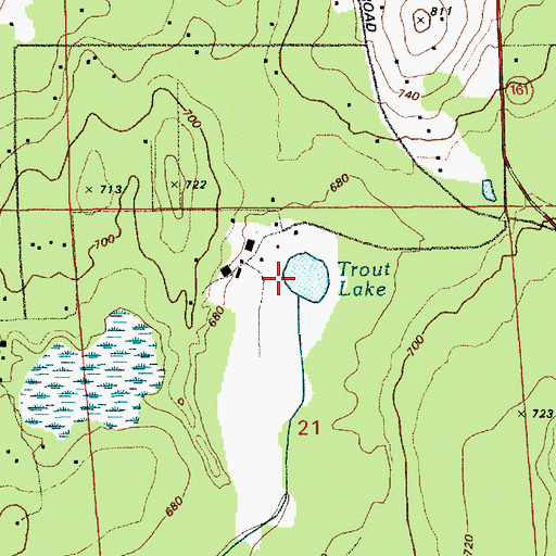 Topographic Map of Trout Lake, WA