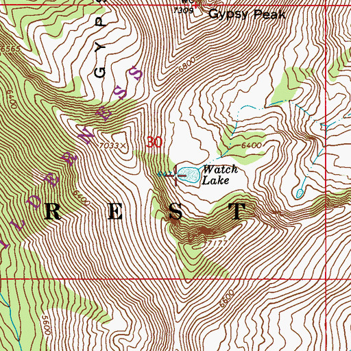 Topographic Map of Watch Lake, WA