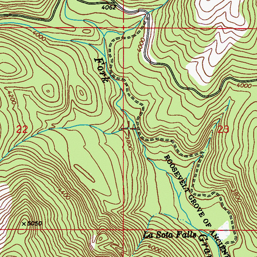 Topographic Map of Willow Creek, WA