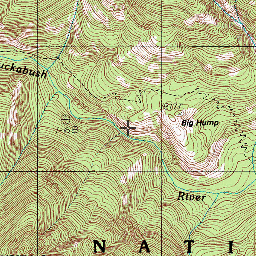 Topographic Map of The Brothers Wilderness, WA