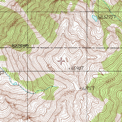 Topographic Map of Shelter Peak, WA