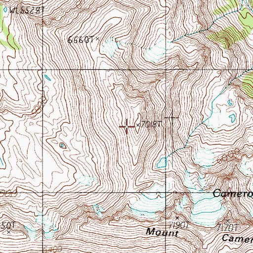 Topographic Map of Head Cameron, WA