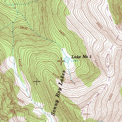 Topographic Map of Lake Number 1, WA