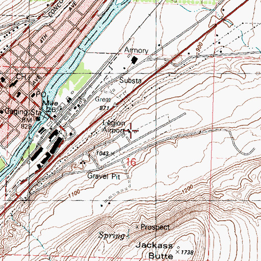Topographic Map of Okanogan Legion Airport, WA