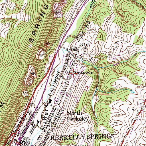 Topographic Map of Jimtown, WV