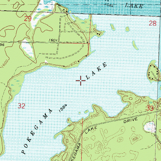 Pokegama Lake WI - Pokegama lake map