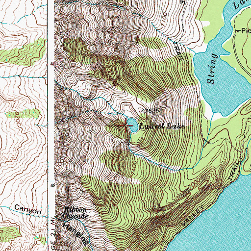 Topographic Map of Laurel Lake, WY