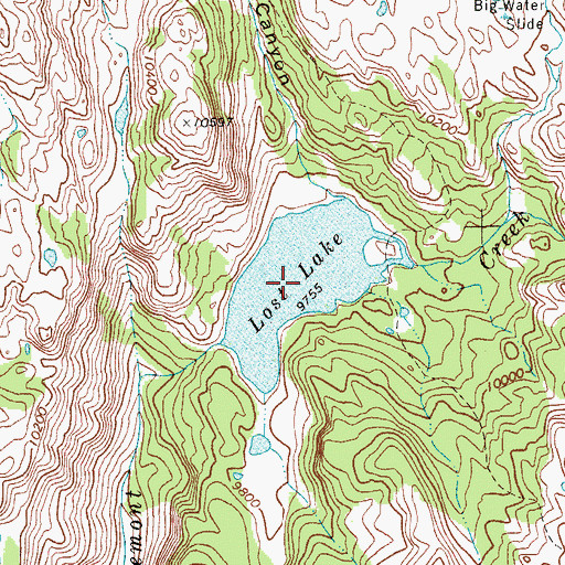 Topographic Map of Lost Lake, WY
