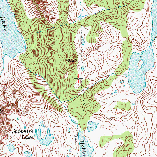 Topographic Map of Seneca Lake Trail, WY