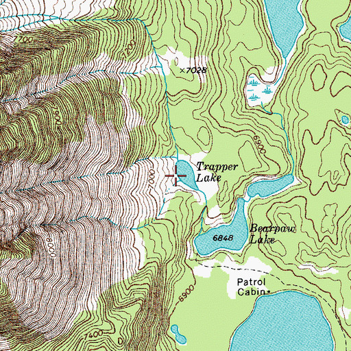 Topographic Map of Trapper Lake, WY