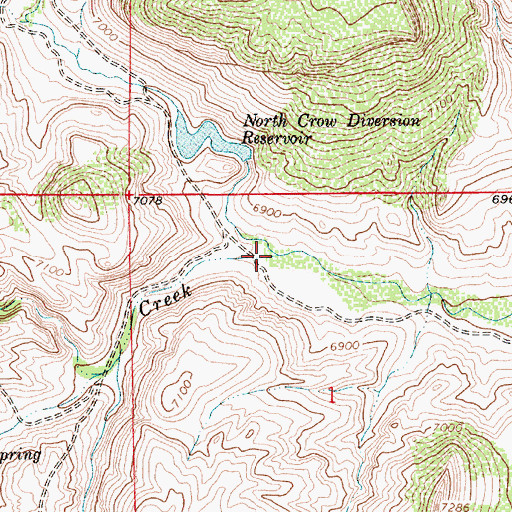 Topographic Map of Brush Creek, WY