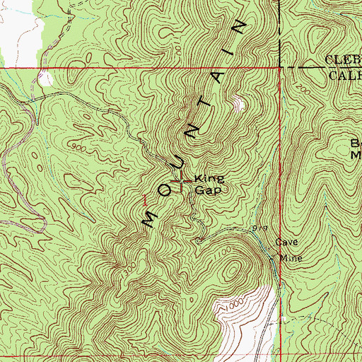Topographic Map of King Gap, AL