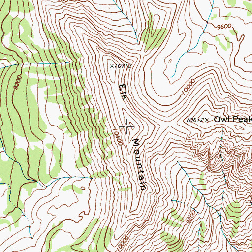 Topographic Map of Elk Mountain, WY