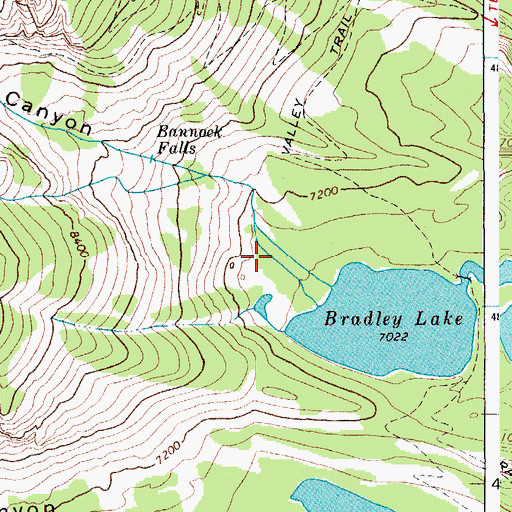 Topographic Map of Garnet Canyon, WY