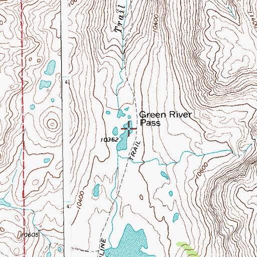 Topographic Map of Green River Pass, WY