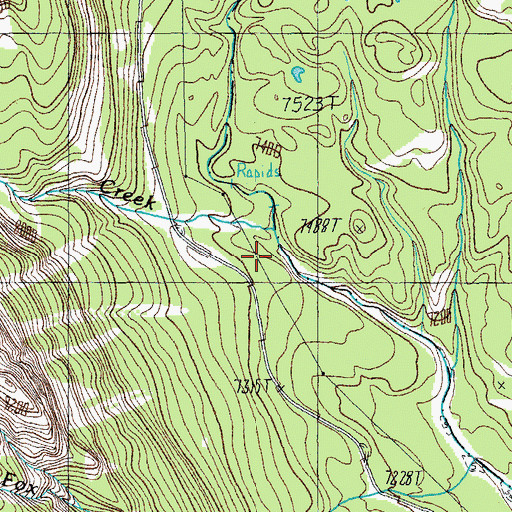 Topographic Map of Index Creek, WY