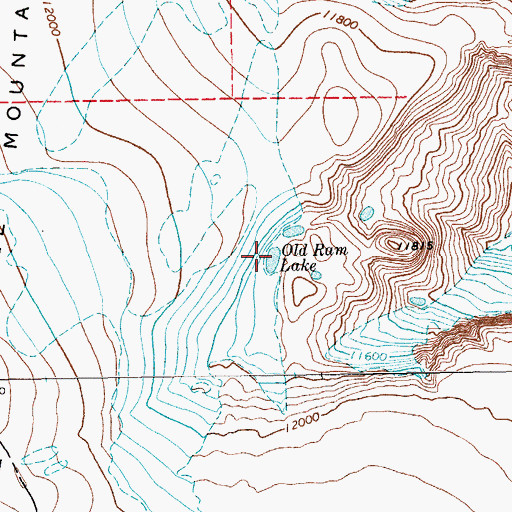 Topographic Map of Old Ram Lake, WY