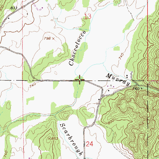 Topographic Map of Murray Branch, AL
