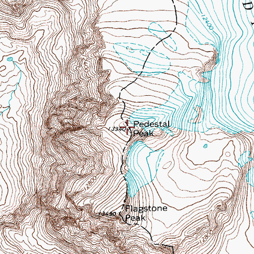 Topographic Map of Pedestal Peak, WY