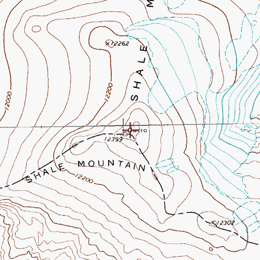 Topographic Map of Shale Mountain, WY