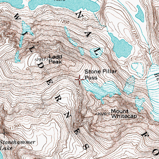 Topographic Map of Stone Pillar Pass, WY