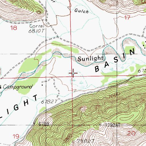 Sunlight Basin Wyoming Map.Sunlight Basin Wy