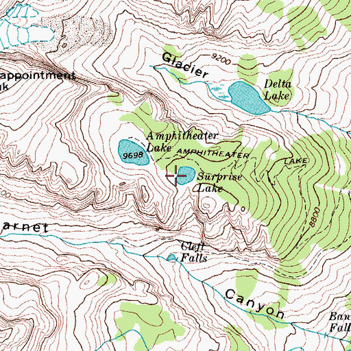 Topographic Map of Surprise Lake, WY