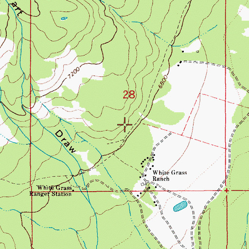 Topographic Map of Valley Trail, WY