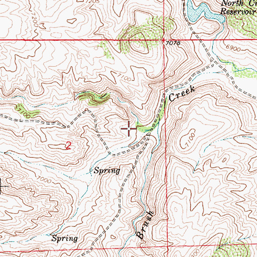 Topographic Map of McIntyre Draw, WY
