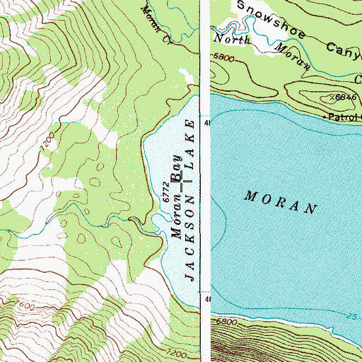 Topographic Map of Moran Lake, WY