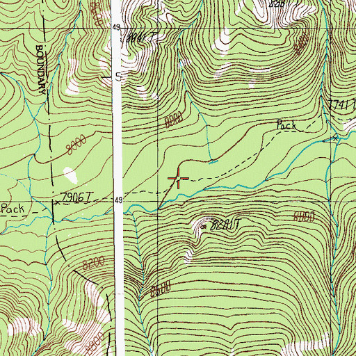 Topographic Map of Pilot Creek Trail, WY
