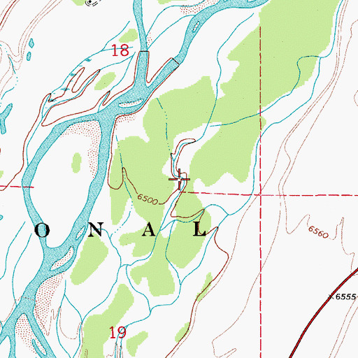 Topographic Map of Jackson Hole, WY