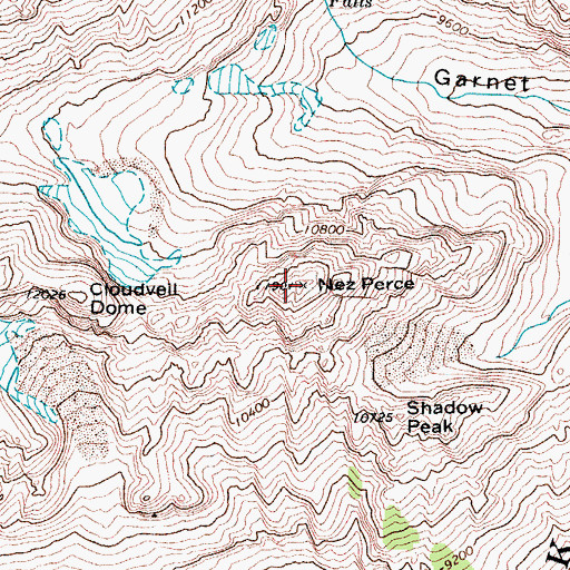 Topographic Map of Nez Perce, WY