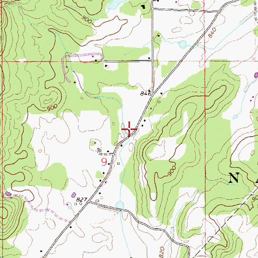 Topographic Map of Hollingsworth School (historical), AL