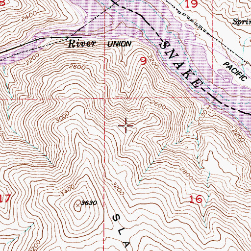 Topographic Map of Hush Spring, OR
