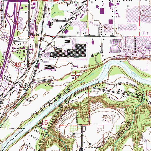 Topographic Map of Riverside County Park, OR
