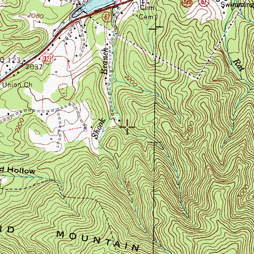 Topographic Map of Carter County, TN