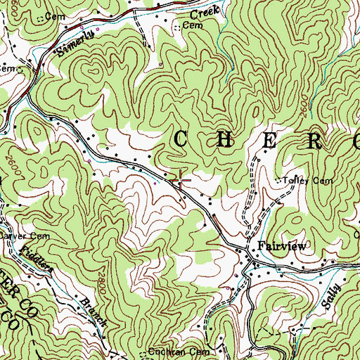 Topographic Map of Cochran Store (historical), TN