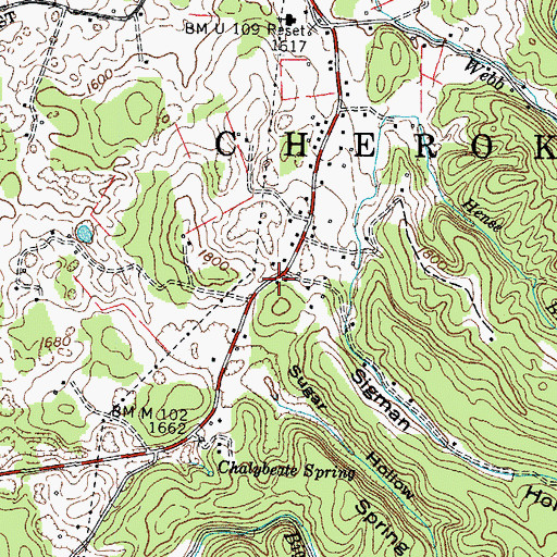 Topographic Map of Taylor Branch, TN