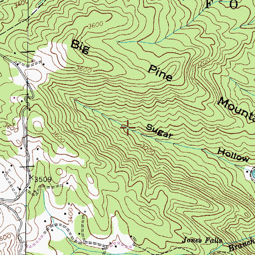 Topographic Map of Don Nelan Appalachian Trail Shelter, TN