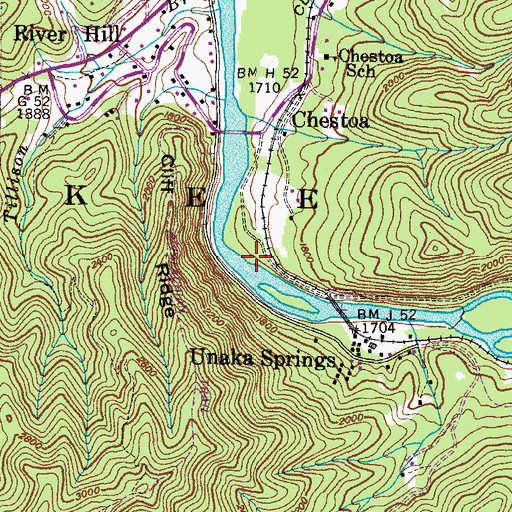 Topographic Map of Chestoa Boating Site, TN