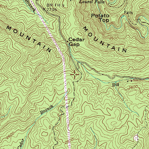 Topographic Map of Clear Gap Shooting Range, TN