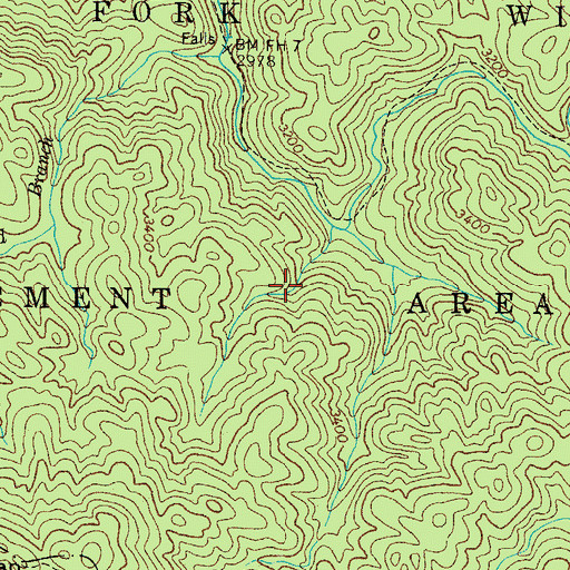 Topographic Map of Laurel Fork Trail, TN